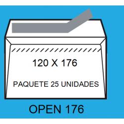 SOBRES 120X176 OPEN 176 P/25