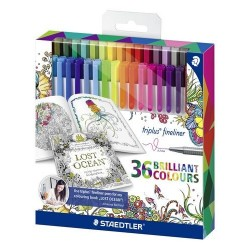 ROTULADOR STAEDTLER FINELINER 36 COLORES