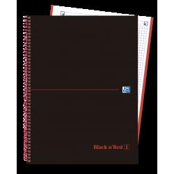 BLOC OXFORD A4 5X5 RED 1