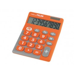CALCULADORA 10 DIGITOS DUO NARANJA