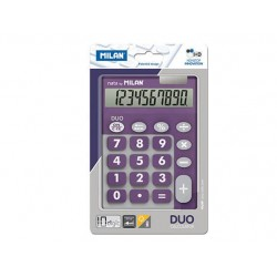 CALCULADORA 10 DIGI.TOUCH DUO LILA