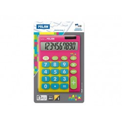 CALCULADORA 10 DIGITOS MIX ROSA